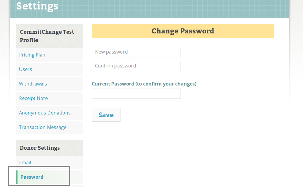 CommitChange Password Reset
