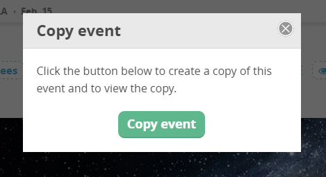 CommitChange Copy Event Modal