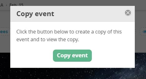 CommitChange Copy Event Modal