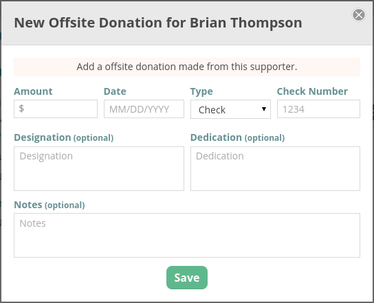 CommitChange Offsite Donation Form