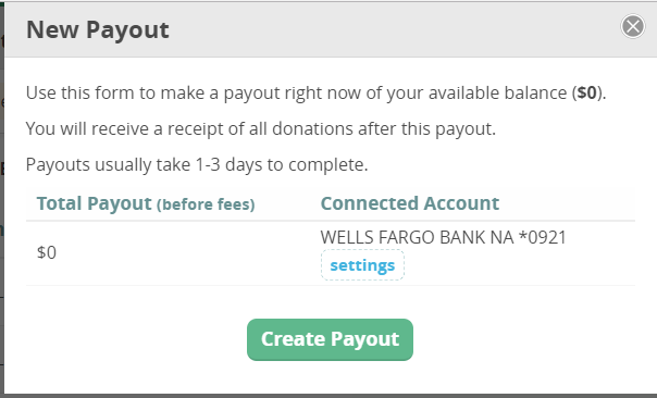 CommitChange Payout Form