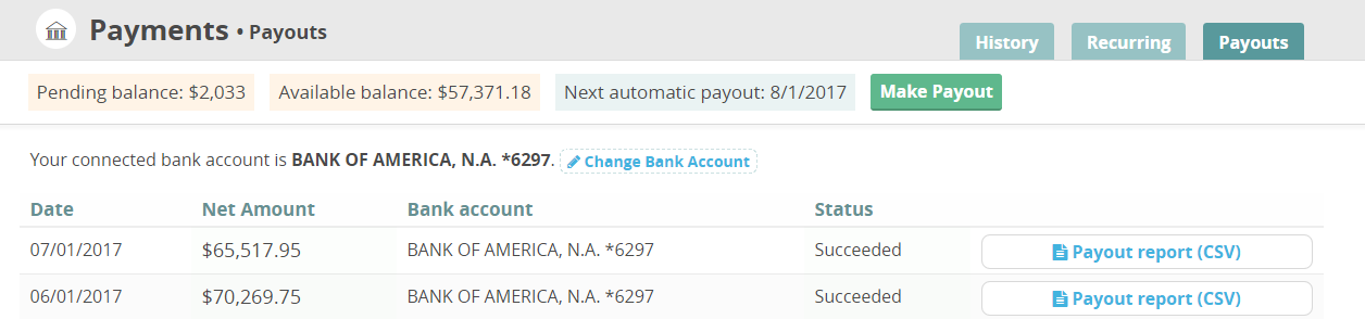 CommitChange Payout Report Link
