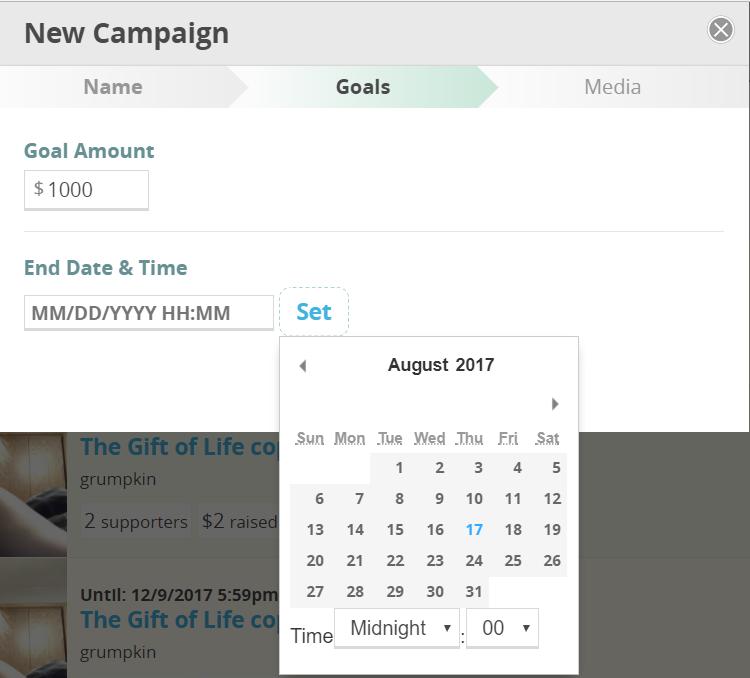CommitChange Campaign Goal Form
