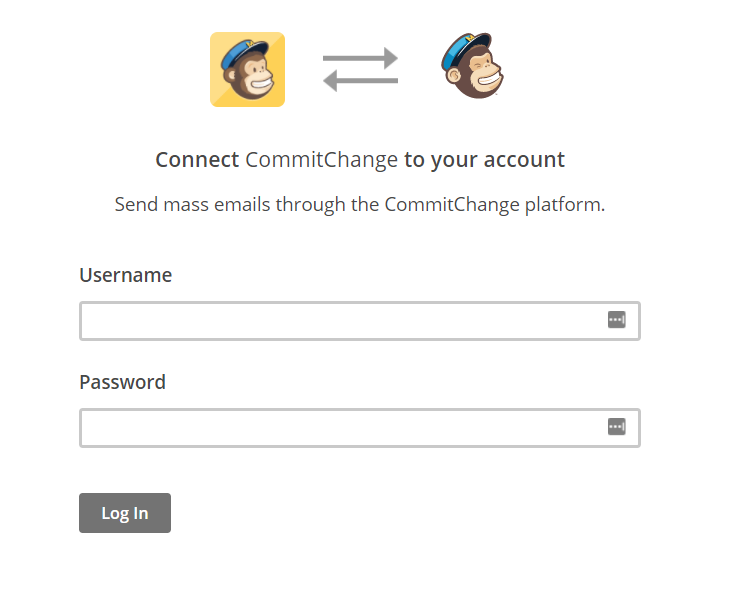 CommitChange Mailchimp Connect
